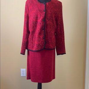 2 Piece Suit, Red, Size XL
